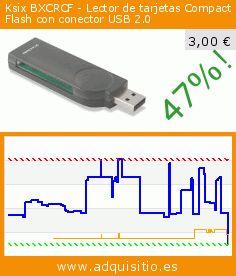 Ksix BXCRCF - Lector de tarjetas Compact Flash con conector USB 2.0 (Ordenadores personales). Baja 47%! Precio actual 3,00 €, el precio anterior fue de 5,61 €. http://www.adquisitio.es/contact/lector-tarjetas-compact