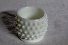 """Milk Glass Hobnail Footed Cup Smooth Rim, 2"""" Votive Size, Wedding Decor Milk Glass, Urn, Wedding Decorations, Smooth, Tableware, Vintage, Home Decor, Dinnerware, Decoration Home"""