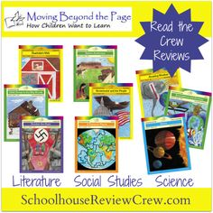 Moving Beyond the Page offers complete curriculum options for homeschoolers based around a multitude of Science, Language Arts, and History topics. The units combine hands-on activities with writing and discussion-based assignments.    #homeschool #hsreviews