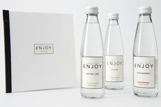 Enjoy Drinks (Student Project) on Packaging of the World - Creative Package Design Gallery Nice clean design and like the hint of colour through the thin line at the bottom of the label.