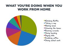 This is totally NOT me when I work from home, but this is hilarious!  I know some friends that telework 1 day a week and this is surely them.