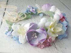 Corona de flores de Lola White por DaWanda.com