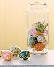 Marbleized Easter Eggs | Step-by-Step | DIY Craft How To's and Instructions| Martha Stewart