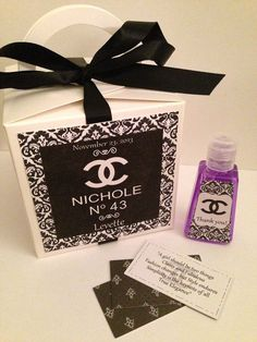 Chanel Party Favors | Chanel Party Theme Favor Box by CreatedToParty on Etsy