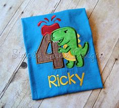 Dinosaur birthday shirt. T-Rex birthday. by SimplieGirlieDesigns