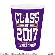 Make each celebration unique with Graduation party supplies from Zazzle. Customize it with signs to favors to create an unforgettable party! Graduation Party Supplies, Purple Gold, Congratulations