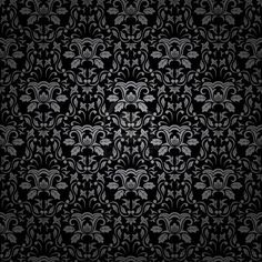 Seamless Gothic ornamental wallpaper, floral pattern, illustration Stock Photo - 7478812