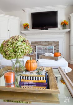 Finding Fall Home Tour: Family Room of In My Own Style