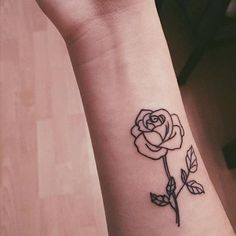 #roseTattoo::the rose is considered a symbol of balance. The beauty of this flower expresses promise, hope, and new beginnings.