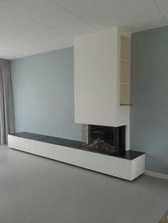 Home Fireplace, Modern Fireplace, Fireplace Design, Living Room Colors, Living Room Designs, Living Room Decor, Hearth And Home, Modern Design, Sweet Home