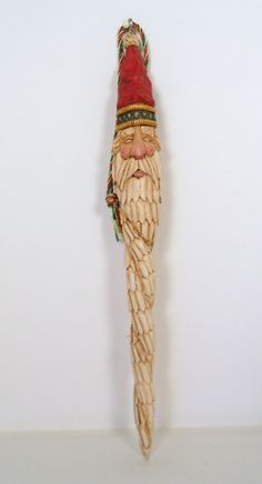 Hand+Carved+Wooden+Santa+Icicle+Ornament+by+TrueWoodcarvings,+$22.00