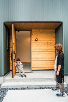 Facade Design, House Design, Facade House, Chiang Mai, Entrance, Garage Doors, New Homes, Exterior, Architecture