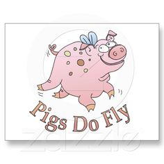 Flying Pig Post Card from Zazzle.com