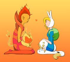 Fionna and prince flame