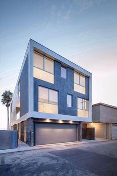 Zig-Zag HouseDan Brunn Architecture El arquitecto Dan Brunn, AIA, de Los Ángeles, diseñó una casa moderna frente al mar, con terrazas en cada planta para maximizar los espacios al aire libre y las visuales hacia el mar.