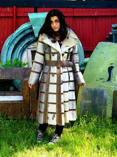 70s Seal & Python Trench Coat Custom Made Fur by RenegadeRevival, $799.00