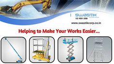 We introduce widerange of Manufacturing Equipments like Scissor Lift,Telescopic/Stick Boom,Aluminium Scaffolding Chennai to make your works easier..