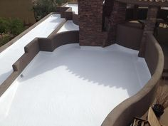 restored-foam-roof-on-residential-home | Affordable Arizona Roofing Restoration