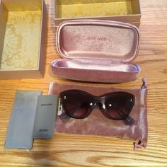 Host pic!!! Miw Miw sunglasses Brand New authentic Miw Miw sunglasses. $65 on ️ay ️al Mui Mui Accessories Sunglasses
