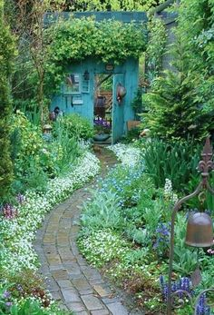 Down the winding garden path • orig. source not found