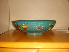 Antique Redwing Potteries Peasant Salad Bowl by RunJumpFall on Etsy