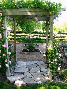 Donna Reyne's Potager - Vegetable Flower Garden - Kitchen Garden