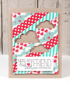 Die cut washi tape card card making