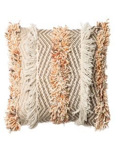 Fringe Square Pillow by Loloi Pillows at Gilt