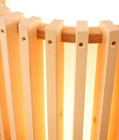 Wood Projector Floor Lamp