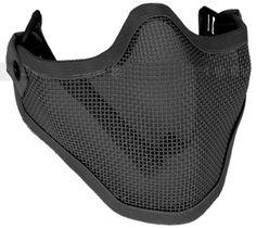 "Matrix Iron Face Carbon Steel ""Striker"" Metal Mesh Lower Half Mask (Black) by Perfect, http://www.amazon.com/dp/B005V1RUFQ/ref=cm_sw_r_pi_dp_3XyMqb0ZJVBK1"