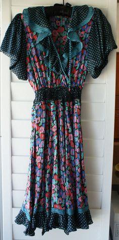 Diane Freis Original Georgette Dress- Vintage #DianeFreis #Georgette #Cocktail