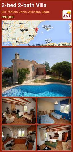2-bed 2-bath Villa in Els Poblets Denia, Alicante, Spain ►€225,000 #PropertyForSaleInSpain