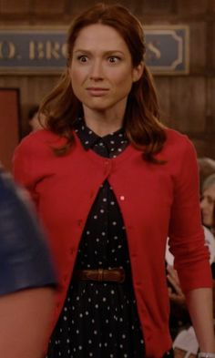 CeCe by Cynthia Steffe  Short-Sleeve Polka-Dot-Print Shirt Dress inspired by Kimmy Schmidt in Unbreakable Kimmy Schmidt | TheTake.com