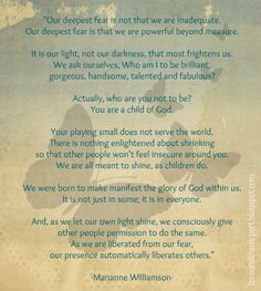 our deepest fear poem poster - Google Search