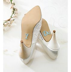 "Something Blue | Lillian Rose® ""I Do' Shoe Stickers available at Herberger's."