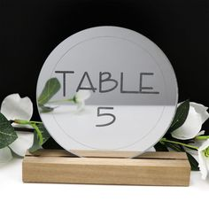 Factory direct wedding decorations and personalised giftware. Acrylic Table, Round Design, Table Signs, Wedding Table Numbers, Wishing Well, Silver Rounds, Clean Design, Personalized Wedding, Laser Engraving