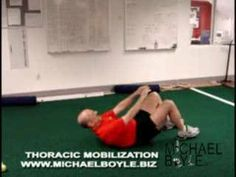 Michael Boyle uses two tennis balls to improve thoracic mobility. Thoracic Spine Mobility, Psoas Release, Morning Stretches, Ways To Stay Healthy, Tight Hip Flexors, Psoas Muscle, Glute Bridge, Back Exercises, Physical Therapy