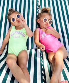 Cute Little Girls Outfits, Toddler Outfits, Kids Outfits, Fashion Kids, Tatum And Oakley, Cute Baby Twins, Baby Swimsuit, Cute Baby Pictures, Twin Girls