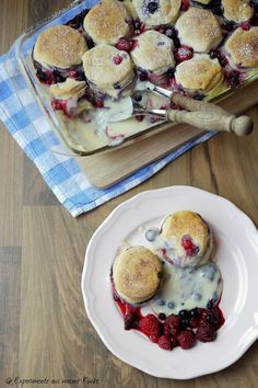 Experimente aus meiner Küche: Brötchen-Vanille-Auflauf mit Beeren