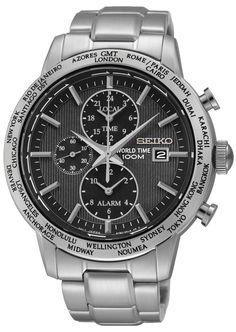 Seiko SPL049P1 Zilverkleurige Heren Chrono Met Datumbubbel En Roestvrijstalen Armband