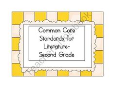 Common Core Standards Display Cards-2nd Grade Literature from Wisdom and Wonder on TeachersNotebook.com (7 pages)  -  This set contains the literature standards for the kindergarten reading standards.  Laminate and cut them out, add some Velcro on the back, and you are ready to display them in your classroom, office, or meeting area.