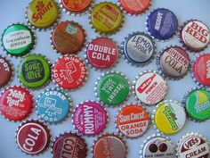 maybe i would drink soda if it still came with bottlecaps. i love the colors!