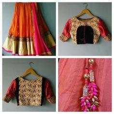 Lehanga wit different blouse
