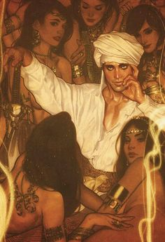 An Arab and his Harem *This is just Gorgeous*