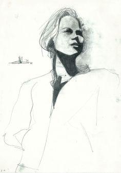 blonde woman standing (1986) #arts #kunst #Corné #Corne #Akkers #藝術 #アート #искусство #فن #seni #art #arts