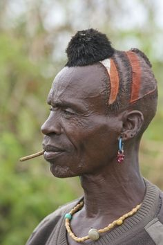 AFRICA (EAST) HAMER man from The OMO VALLEY ETHIOPIA <