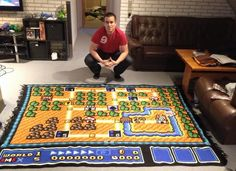 Man spends 6 years making giant Super Mario blanket