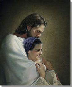 I love this picture by Liz Lemmon Swindle. What a sweet picture of Christ with his mother Mary.