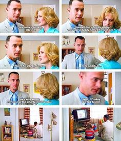 Forrest Gump- I am convinced this is the saddest scene in the movie.