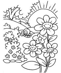9 Contoh Mewarnai Gambar Bunga Nan Unik | WarnaGambar.com